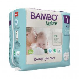 Couches Bambo Nature Taille 1 (2-4kg) 22 unités