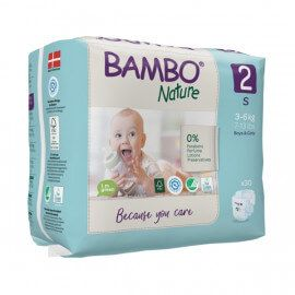 Couches Bambo Nature Taille 2 (3-6kg) 30 unités