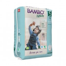 Couches Bambo Nature Culotte d'apprentissage Taille 5 (12-18kg)