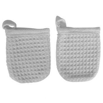Gant Démaquillage Hypoallergénique x2 Aquamassage