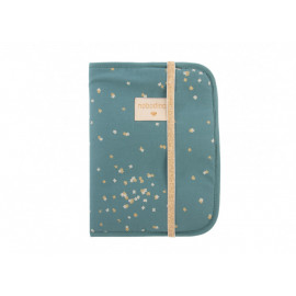Protège-carnet de santé A5 Poema gold confetti magic green Nobodinoz