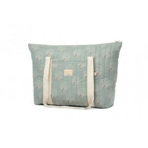 Sac de maternité Paris white gatsby antique green Nobodinoz