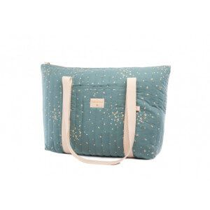 Sac de maternité Paris gold confetti magic green Nobodinoz