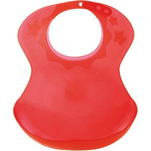 Bavoir semi rigide 12m+ Tigex Rouge