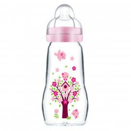 Biberon en verre Feel Good Mam 260ml Rose