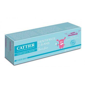 Dentifrice 2-6 Ans Goût Framboise Cattier