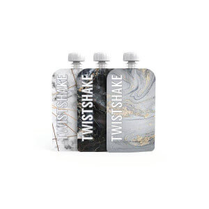 3 Gourdes Réutilisables 220ml Twistshake - Design marbre