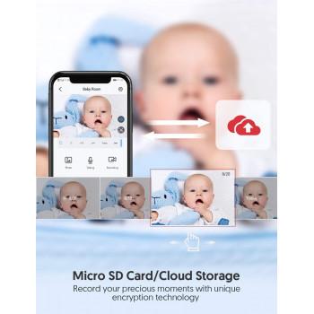 Caméra Bébé Babyphone FullHD WiFi avec Audio Bidirectionnel