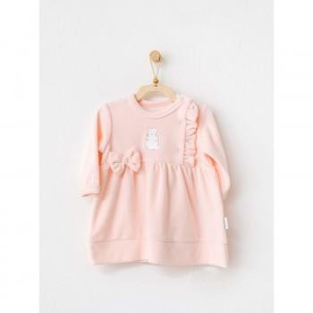 Robe Petit Chaton Rose 6-9 mois