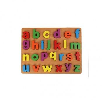 Puzzle alphabets en bois lettres minuscules..